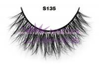 Real siberian mink fur lashes-S135