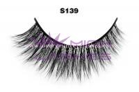 Real siberian mink fur lashes-S139