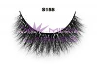 Real siberian mink fur lashes-S158